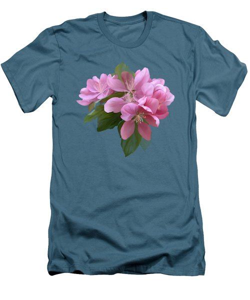 Pink Blossoms Men's T-Shirt (Slim Fit) by Ivana Westin