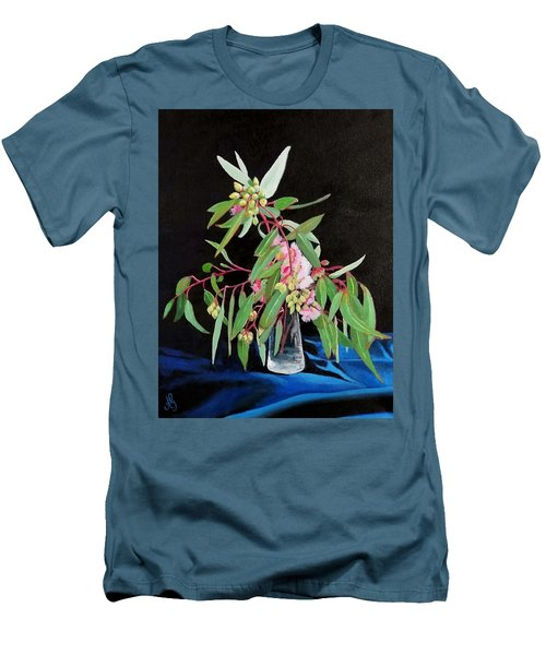 Pink Flowering Gum Men's T-Shirt (Athletic Fit)