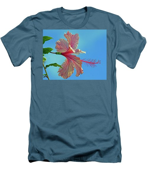 Pink Lady Hibiscus Men's T-Shirt (Athletic Fit)