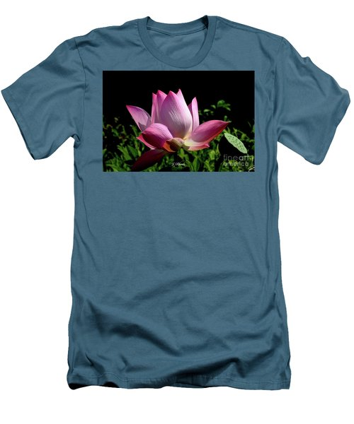 Pink Lotus  Men's T-Shirt (Slim Fit) by Jeannie Rhode
