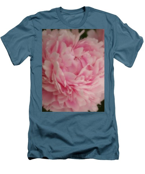 Pink Peony Men's T-Shirt (Slim Fit)