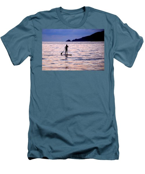 Pink Water Girl Men's T-Shirt (Slim Fit) by Jim Walls PhotoArtist