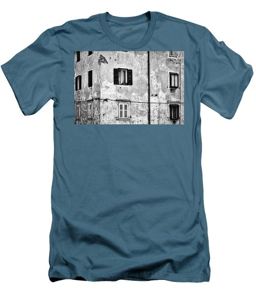 Men's T-Shirt (Athletic Fit) featuring the photograph Piran Windows - Slovenia by Stuart Litoff
