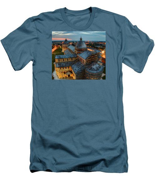 Pisa Cathedral Men's T-Shirt (Slim Fit) by Robert Charity