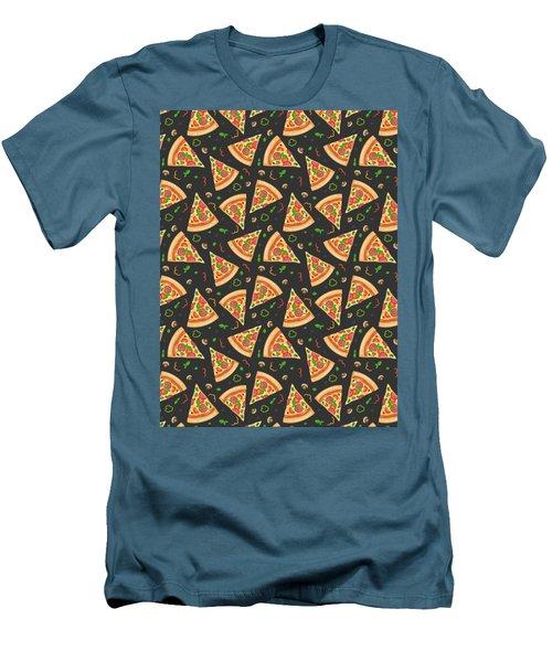 Pizza Slices Men's T-Shirt (Slim Fit) by Ludmila Novikova