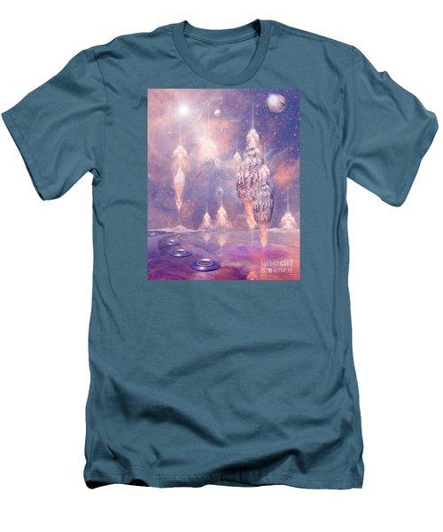 Men's T-Shirt (Slim Fit) featuring the digital art Shell City by Alexa Szlavics