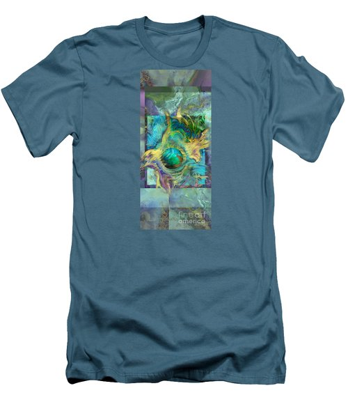 Men's T-Shirt (Slim Fit) featuring the painting Planetary Collision 2 by Ursula Freer