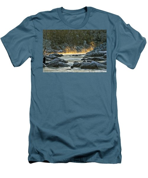 Playfull Mist Men's T-Shirt (Slim Fit) by Robert Charity
