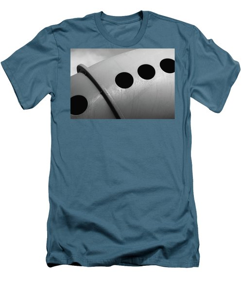 Men's T-Shirt (Slim Fit) featuring the photograph Playground Bridge by Richard Rizzo
