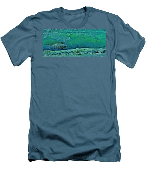 Playing In The Shore Break Men's T-Shirt (Slim Fit) by Craig Wood