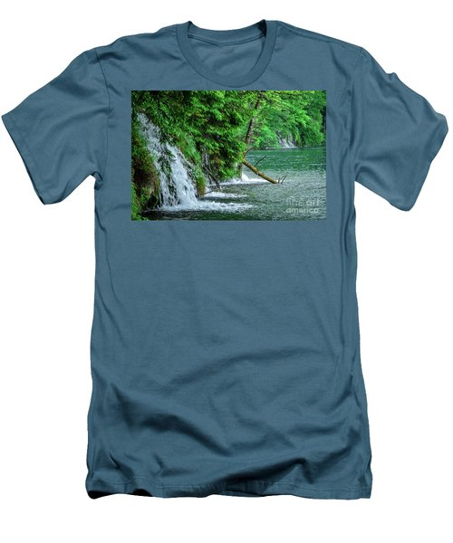 Plitvice Lakes National Park, Croatia - The Intersection Of Upper And Lower Lakes Men's T-Shirt (Athletic Fit)