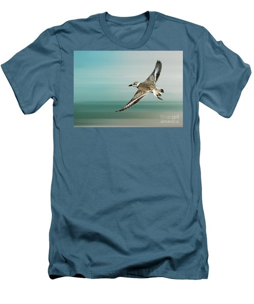 Plover In Flight Men's T-Shirt (Athletic Fit)
