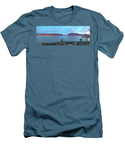 Plum Point Sunset Panorama Men's T-Shirt (Slim Fit) by Angelo Marcialis