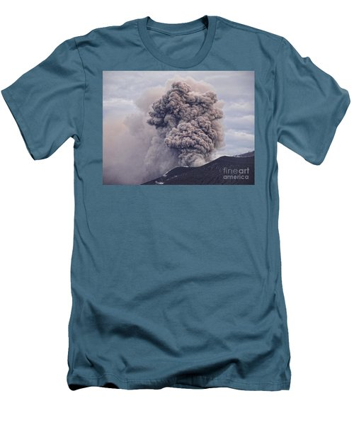 Men's T-Shirt (Slim Fit) featuring the photograph Plume by Trena Mara