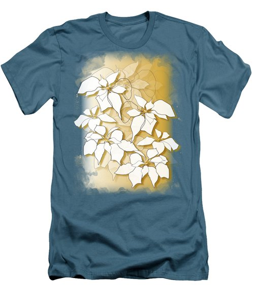 Poinsettias Men's T-Shirt (Athletic Fit)