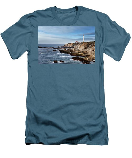 Point Arena Light Men's T-Shirt (Slim Fit) by Lana Trussell
