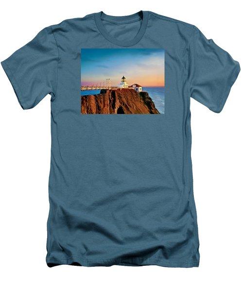 Point Bonita Lighthouse Men's T-Shirt (Slim Fit) by Douglas MooreZart