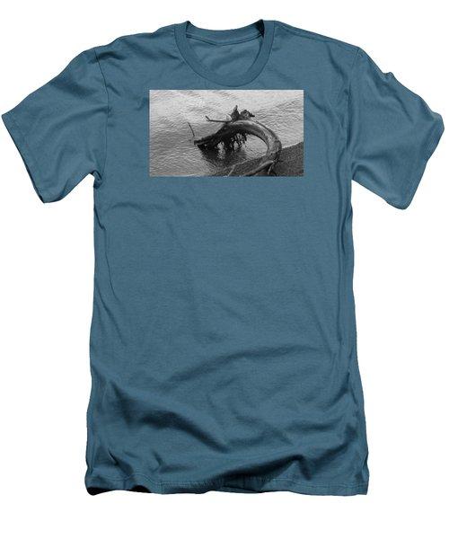 Point Defiance Driftwood Men's T-Shirt (Slim Fit) by Karen Molenaar Terrell