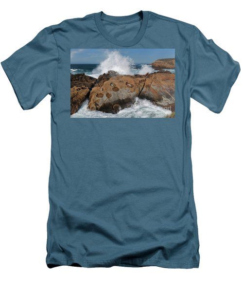 Point Lobos' Concretions Men's T-Shirt (Athletic Fit)