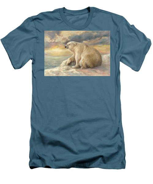 Polar Bear Rests On The Ice - Arctic Alaska Men's T-Shirt (Athletic Fit)