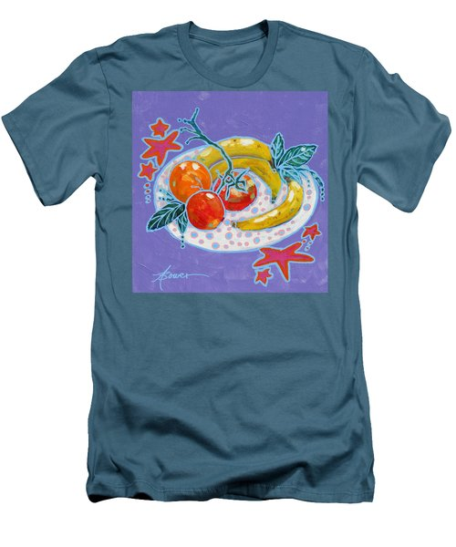 Polka-dot Plate  Men's T-Shirt (Athletic Fit)