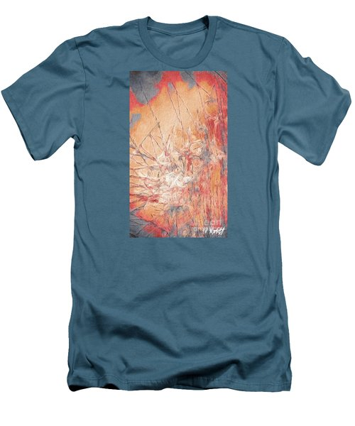 Men's T-Shirt (Slim Fit) featuring the photograph Pond In Fall by William Wyckoff