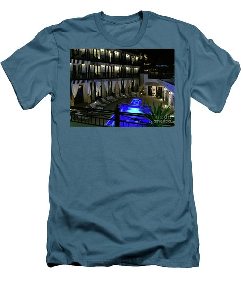 Poolside At The Pearl Men's T-Shirt (Slim Fit) by Megan Cohen