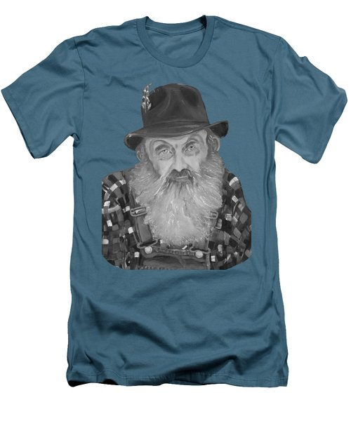 Popcorn Sutton Moonshiner Bust - T-shirt Transparent B And  W Men's T-Shirt (Athletic Fit)
