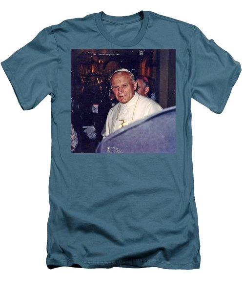 Pope John Paul Ll November 1, 1979 Men's T-Shirt (Slim Fit) by Jay Milo