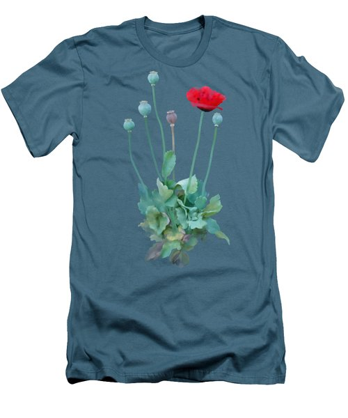 Poppy Men's T-Shirt (Slim Fit) by Ivana Westin