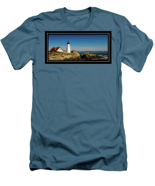Portland Head Lighthouse 7 Men's T-Shirt (Slim Fit) by Sherman Perry