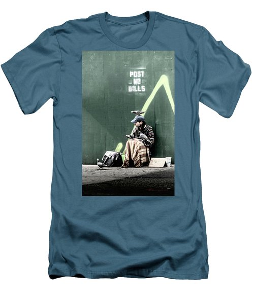 Men's T-Shirt (Slim Fit) featuring the photograph Post No Bills by Marvin Spates