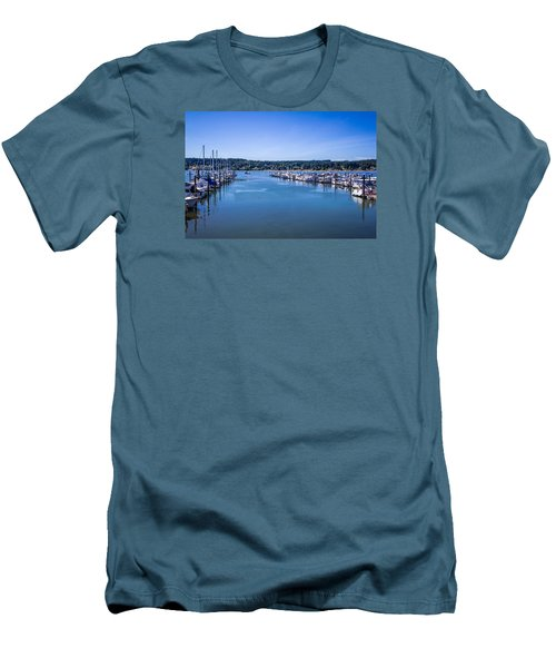 Poulsbo Marina Men's T-Shirt (Athletic Fit)
