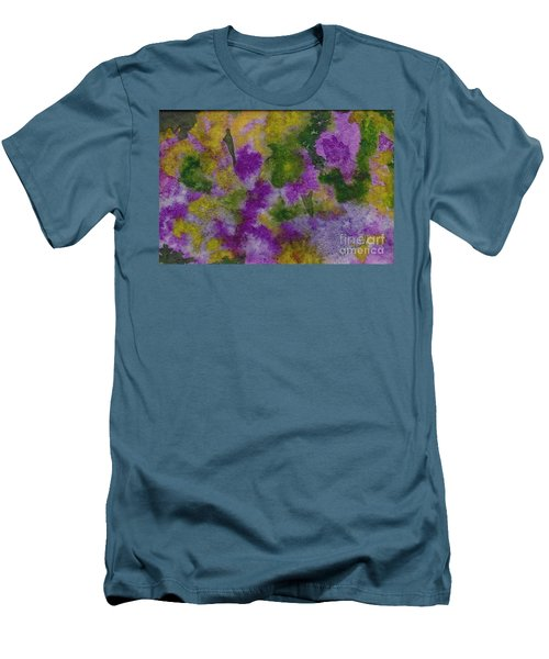 Men's T-Shirt (Slim Fit) featuring the painting Pouring Flowers by Vicki  Housel
