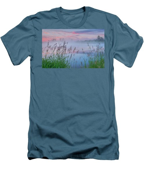 Men's T-Shirt (Slim Fit) featuring the photograph Prairie Pond Before Sunrise by Dan Jurak