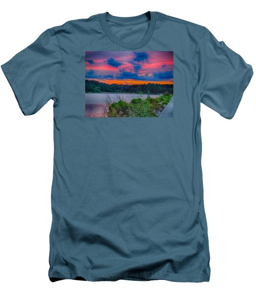 Pre-sunset At Hbsp Men's T-Shirt (Slim Fit) by Bill Barber