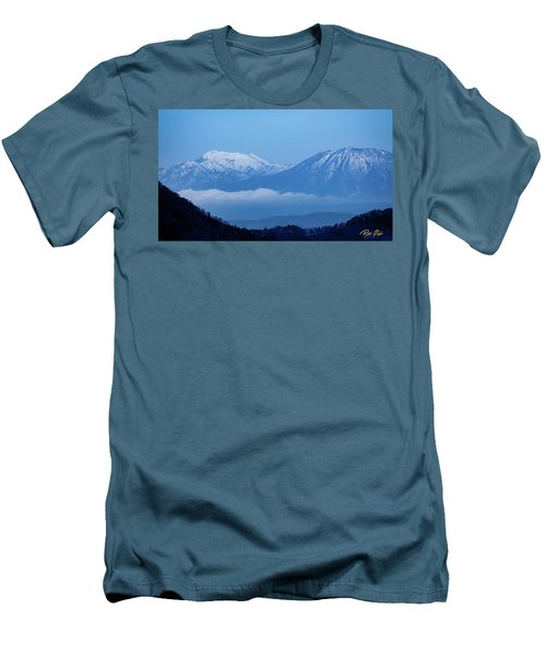 Men's T-Shirt (Athletic Fit) featuring the photograph Predawn Peaks by Rikk Flohr
