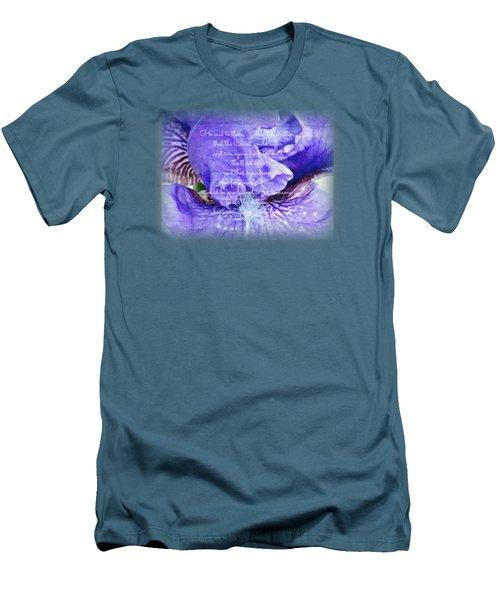 Pretty Purple - Verse Men's T-Shirt (Athletic Fit)