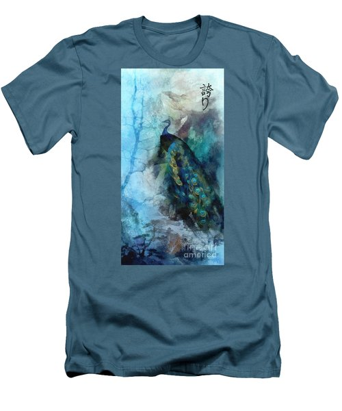Men's T-Shirt (Slim Fit) featuring the painting Pride by Mo T