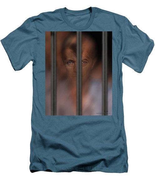 Prisoner Of Love Men's T-Shirt (Slim Fit) by Pedro L Gili