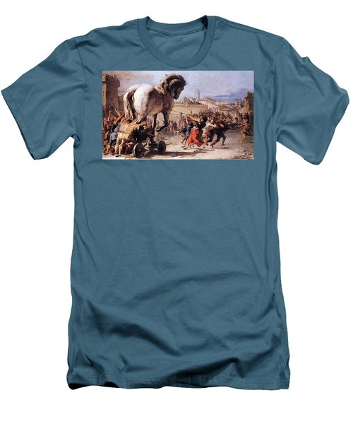 Procession Of The Trojan Horse  Men's T-Shirt (Athletic Fit)
