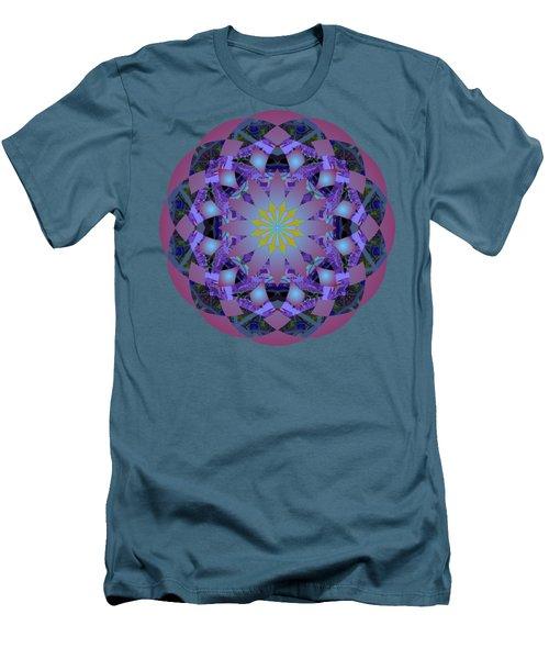 Psychedelic Mandala 006 A Men's T-Shirt (Slim Fit) by Larry Capra
