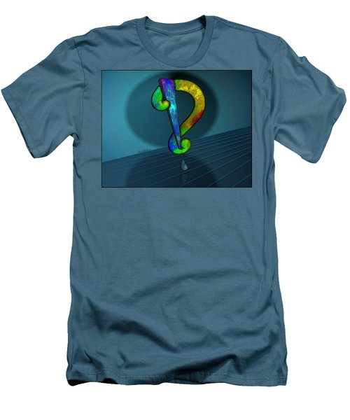 Psychedelic Interrobang Men's T-Shirt (Athletic Fit)