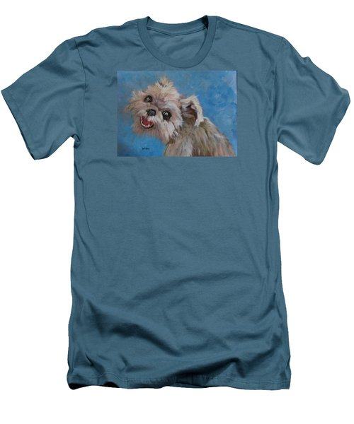 Pudgy Smiles Men's T-Shirt (Slim Fit) by Barbara O'Toole