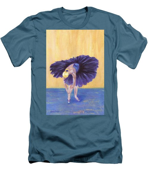 Men's T-Shirt (Athletic Fit) featuring the painting Purple Ballerina by Jamie Frier
