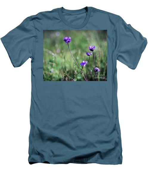 Men's T-Shirt (Slim Fit) featuring the photograph Purple Flowers by Jim and Emily Bush
