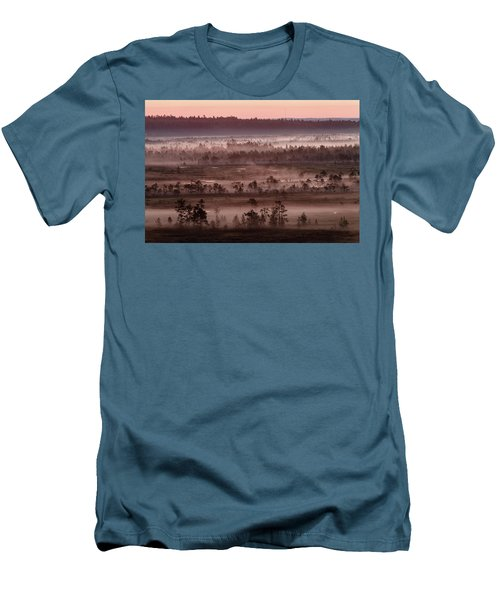 Purple Fog On Swamp Men's T-Shirt (Athletic Fit)
