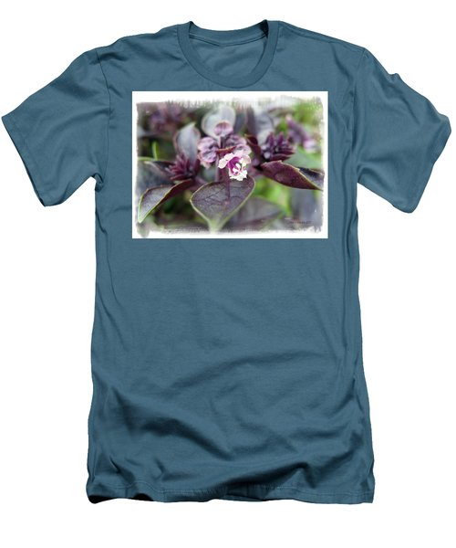 Men's T-Shirt (Slim Fit) featuring the photograph Purple In Autumn by Joan  Minchak