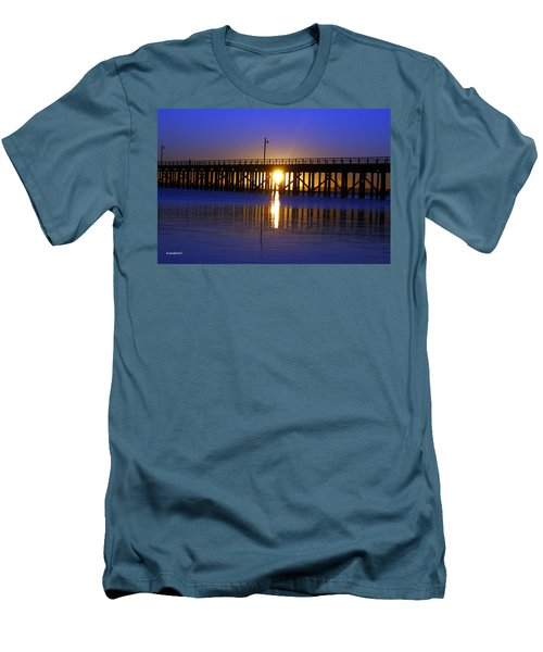 Purple Ocean Sunrise Men's T-Shirt (Athletic Fit)
