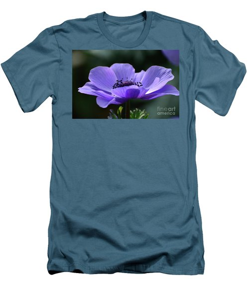 Purple Poppy Mona Lisa Men's T-Shirt (Athletic Fit)